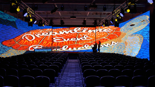How good does our logo look on the immersive LED wall?